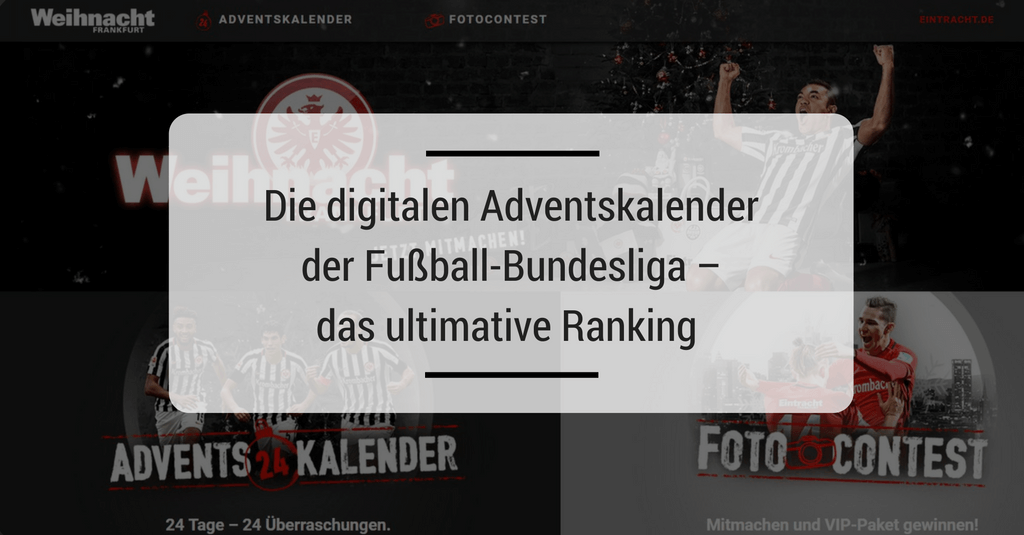 Die digitalen Adventskalender der Fußball-Bundesliga – das ultimative Ranking