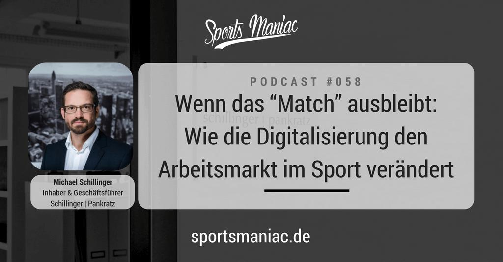"""#058: Wenn das """"Match"""" ausbleibt: Wie die Digitalisierung den Arbeitsmarkt im Sport verändert"""