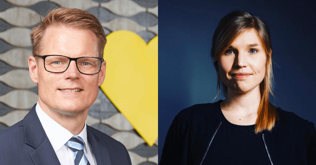 Marie Scharffenorth und Rolf Lange von EDEKA