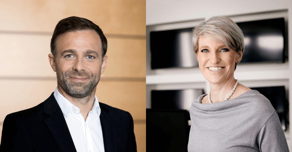 Susanne Aigner, Deutschland Chefin von Discovery und Gernot Bauer, Head of Sports bei Discovery.