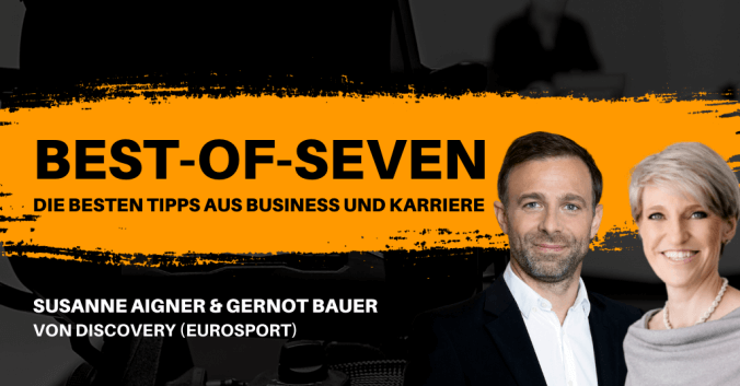 Susanne Aigner & Gernot Bauer von Discovery (Eurosport) in den Best-of-Seven